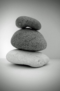 stone-black-and-white