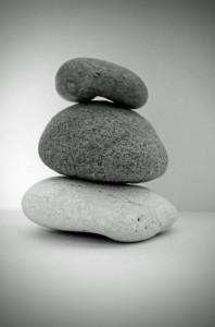 stone-black-and-white