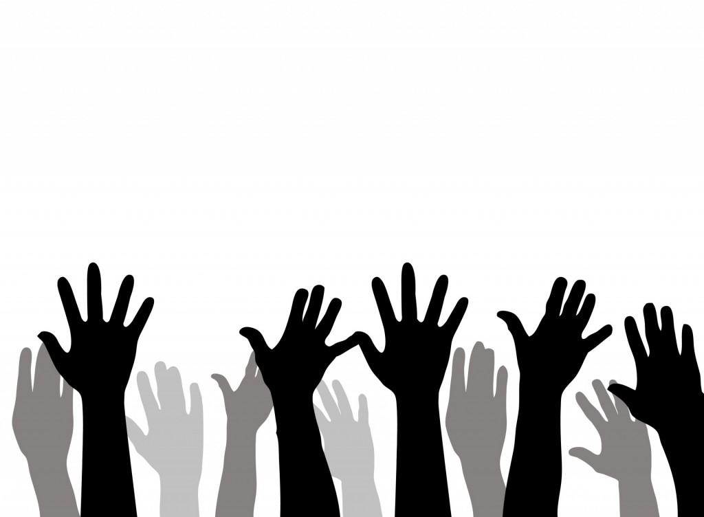 Raised Hands image