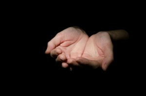 Hands as in a Reiki Class
